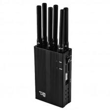 TX-N6 Двухрежимный портативный подавитель CDMA GSM DCS WCDMA 4G WiFi GPS